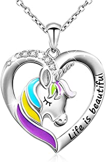 Sterling Silver Kids Unicorn Pendant Necklace Party Favors for Girls