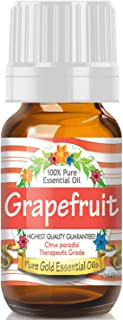Pure Gold Grapefruit Essential Oil, 100% Natural & Undiluted, 10ml