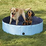 Dog Bathtub, PYRUS 63 x 11.8 Inches Collapsible Pet Bath Pools Inflatable Dog Bathtub Foldable Pets Pool Bathing Tub for Dogs or Cats (XL)