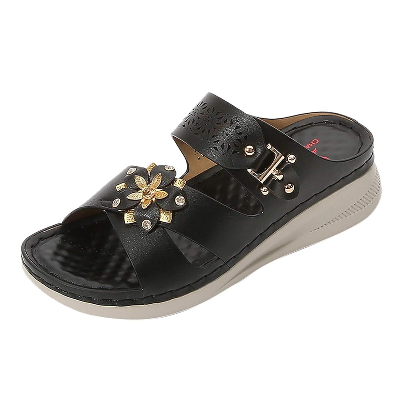 Portland Mall Women Summer Sandals Omaha Mall Beach Wedge Strap Ankle C Flip-Flop
