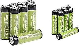 Amazonベーシック 充電池 充電式ニッケル水素電池 単4形8個セット (最小容量750mAh、約1000回使用可能) & 充電池 充電式ニッケル水素電池 単3形8個セット (最小容量1900mAh、約1000回使用可能)