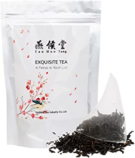 Yan Hou Tang Organic Taiwan Red Jade Oolong Black Tea Bags - 50 Counts Full Loose Leaf Honey Coffee Flavor Taste Sugar Free Formosa High Mountain Wulong for relaxation and stress reduction relief
