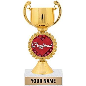BOY FRIEND BESPOKE TROPHY GIFT PERSONALISED WORLDS BEST GIRLFRIEND