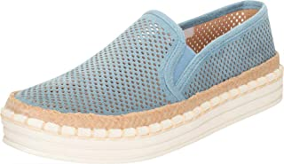 Cambridge Select Women's Round Toe Lasercut Perforated Slip-On Espadrille Flatform Fashion Sneaker