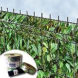 Bedruckter Zaun Sichtschutz Streifen für 3D Gitterstabmatten – PVC frei (Kirschlorbeer)