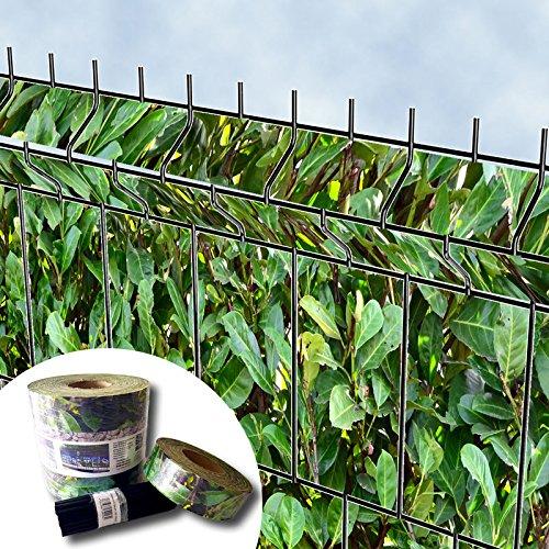 Textile Design, Protection visuelle « Brise-Vue » pour Les Panneaux de clôtures à Double Fils horizontaux – sans PVC (Laurier)