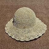 De estilo complejo sombrero sombrero del ganchillo de manera rueca personalidad sencilla verano junto al mar macetas hechas a mano magnánima sombrero de ala Dobla el sombrero adecuado para cualquier é