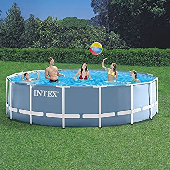 Intex 16  x 48  Prism Frame Above Ground Swimming Pool with Filter Pump