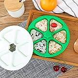 HDF Molde para hacer sushi DIY para Onigiri, fabricación de moldes de sushi, forma de arroz, onigiri, para hacer sushi, arroz, para hacer bolas de arroz o bento