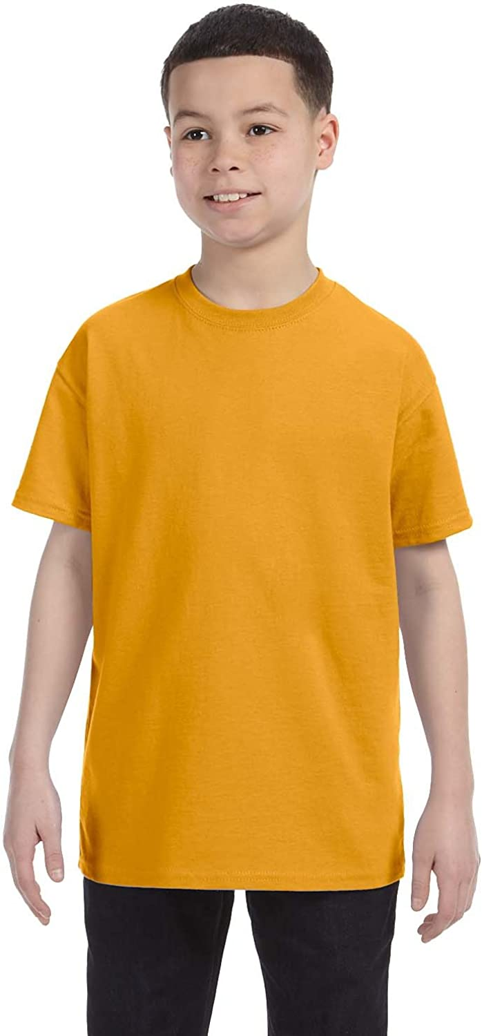 By Hanes Youth 61 Oz Tagless T-Shirt - Gold - S - (Style # 54500 - Original Label)
