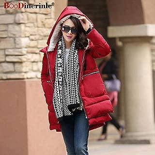 Nobrand TGLAYA Women Winter Cotton Coat Zipper Big Pocket Jacket Female Thicken Warm Hooded Outwear Parkas