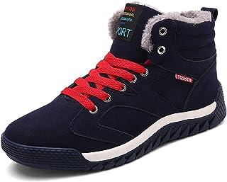 c3d2fda36b SITAILE Hombre Otoño Invierno Botines Calentar Botas de Nieve  Anti-Deslizante Lazada Zapatos Botas de
