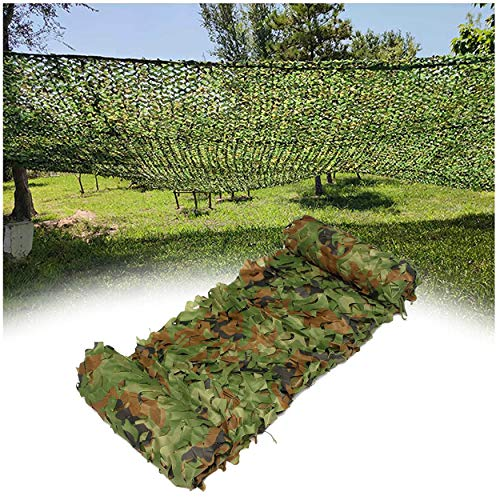 YFYYF Malla De Camuflaje para Niños 2x3m 2x4m 2x8m 4x4m 3x3m 3x4m 3x5m 3x6m Red De Camuflaje Caza Ejército Woodland Shooting Caza Militar Sombrilla Protección Solar Decoración