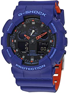 Men's G Shock Quartz Watch with Resin Strap, Multi, 28.8 (Model: GA-100L-2ACR)