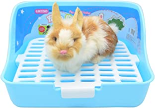 SunshineBio Rabbit Cage Litter Box Potty Trainer for Adult Guinea Pig Ferret Small Animals, 11 Inches (Blue)