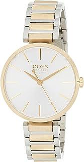 ساعة بقرص فضي وسوار معدني للنساء من هوجو بوس 1502417