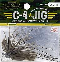 エバーグリーン(EVERGREEN) ラバージグ C-4ジグ 2.7g グリーンパンプキン #201