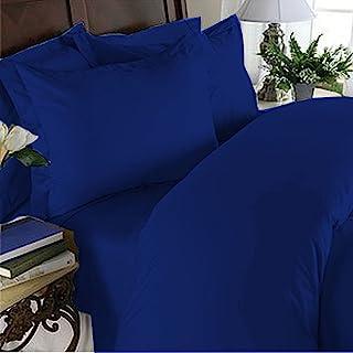 Elegant Comfort 4 Piece 1500 Thread Count Luxurious Ultra Soft Egyptian Quality Coziest Sheet Set, King, Bahama Royal Blue