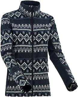 Kari Traa Womens Rille Fleece Jacket - Full-Zip Midlayer Winter Coat with a Fashionable Inca-Print Design