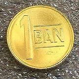 SHFGHJNM Colección de Monedas Monedas Europeas Rumania 1 Buni National Emblem Pattern Monedas