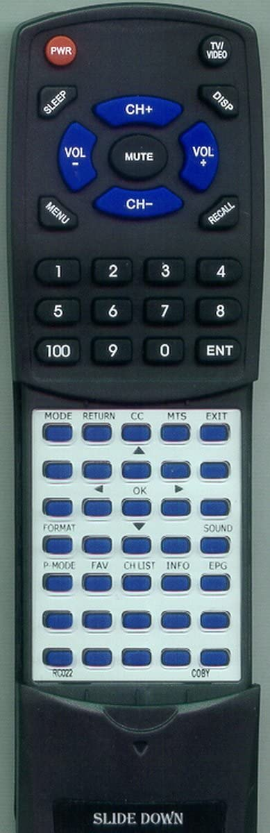 Replacement Fashionable Ranking TOP4 Remote Control for COBY TFTV1514 TFTV2224 TFTV1212