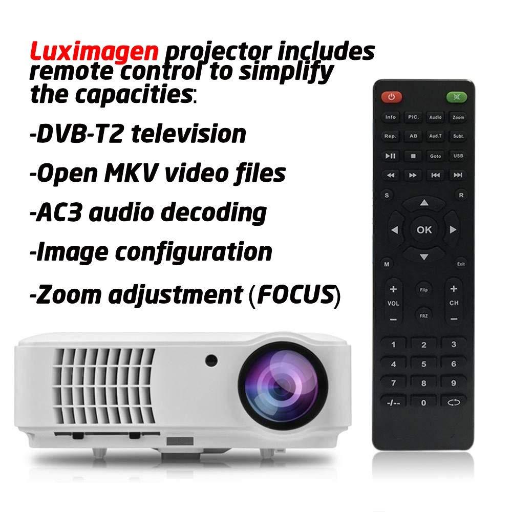 Proyector Full HD 1080P, LUXIMAGEN HD520 (2020 NUEVO), Proyector ...