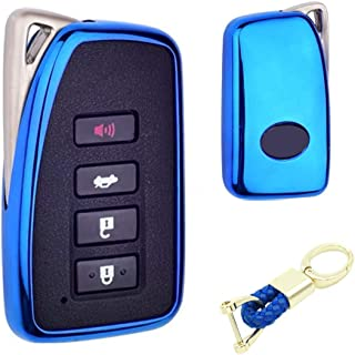 Royalfox(TM) 2/3/4 Buttons Soft TPU Smart keyless Remote Key Fob case Cover Shell for Lexus RX is CT GS NX ES RC RCF GSF e...