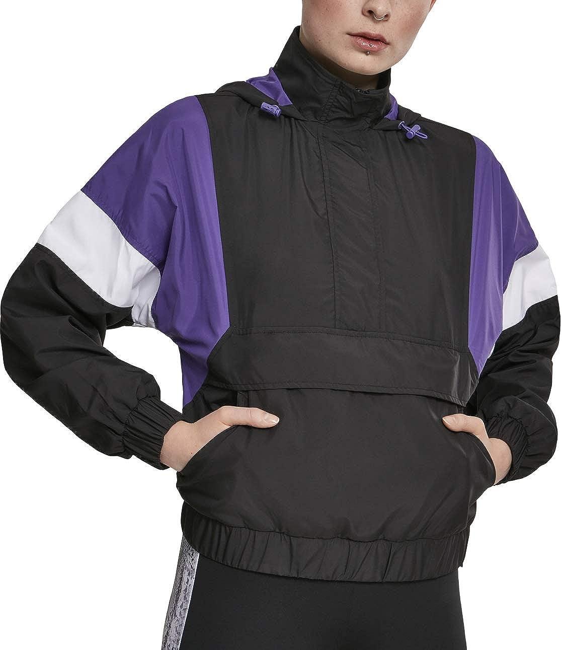 Urban Classics Women Lightweight 3-Tone Jacket Pull Finally resale start Light Cheap mail order shopping