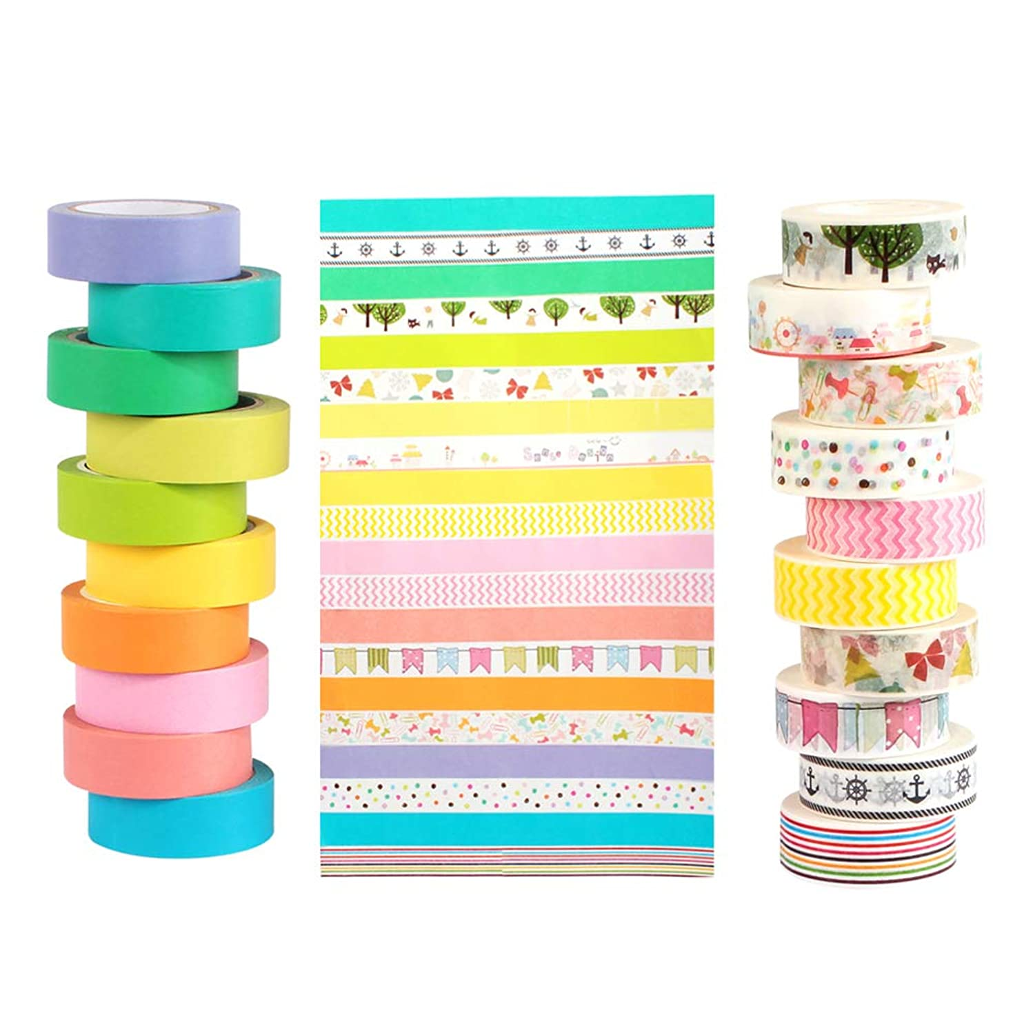 Recollections Washi Tape Set, Foil Gold Cute Decorative Masking DIY Washi Tape Craft 20 Wide Rolls for Bullet Journal Planner Stickers