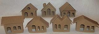 Mini Cardboard Putz Style Houses- Set of 7 DIY houses