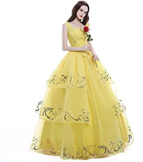 yellow ball gown belle