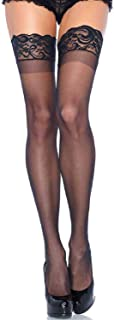 Women's Plus Size Stay Up Lycra Sheer Thigh High