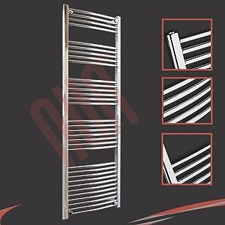 600 mm (w) x 1800 mm (h) - Cromo Curvado Radiador toallero horizontal Diámetro : 22 mm, Bar Modelo: 4 + 5 + 6 + 7 + 11