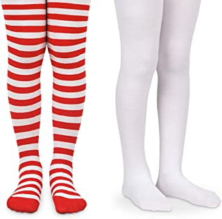 Jefferies Socks Girls Holiday Stripe Christmas Dress Tights 2 Pack