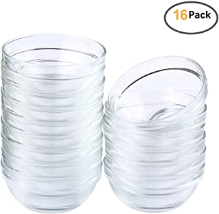 Maredash Mini Bowls 4 Inch Glass Bowls for Kitchen Prep, Dessert, Dips, and Candy Dishes,4oz Stackable Dishware safe,Set of 16 (combination)