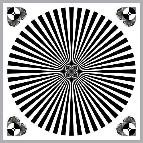 Aufkleber 20cm x 20cm Sticker Siemensstern Fokus Punkt Mess Chart Graukarte 4061963068601