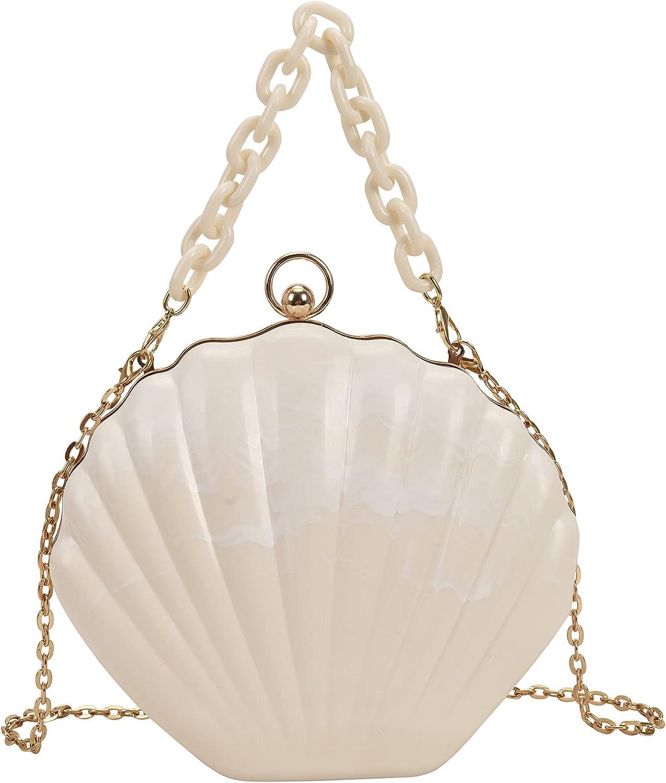 Felice Ann Women Mini Don't miss the campaign Seashell Should Import Bag Cross-body Chain Strap