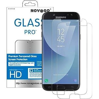 2 Pi/èces Verre Tremp/é pour Galaxy J3 2017 Empreinte Digitale /à d/éverrouiller NBKASE Ultra Clear Film Protection /Écran pour Samsung Galaxy J3 2017