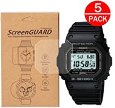 [5-Pack] for Casio GW-5000 / GW-5000-1JF /GW5000 Watch Screen Protector,Full Coverage Screen Protector for Casio GW-5000 Watch HD Clear Anti-Bubble and Anti-Scratch