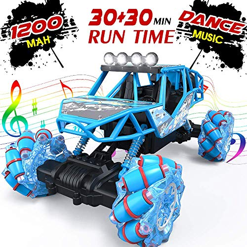 Bfull 4WD RC Car, 1/16 Drift Master Music Buggy 2.4 GHz Remote Control High Speed Racing Vehicle All Terrain Monster Truck for On & Off Road Games, 2 Rechargeable Batteries*
