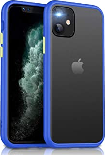 Beetle Style for iPhone 11 Case 6.1 Inch, Matte Translucent Anti-Scratch Hard PC Back with Microfiber Lining, Dropproof Shockproof Dirtproof Waterpproof Protective Case Cover for iPhone 11,Blue