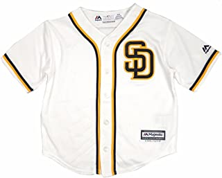 Majestic Athletic San Diego Padres MLB White Official Home Cool Base Jersey for Infant