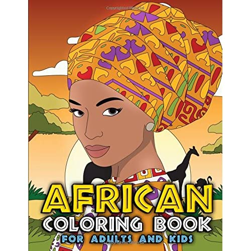 African Coloring Book for Adults and Kids: Traditional ...