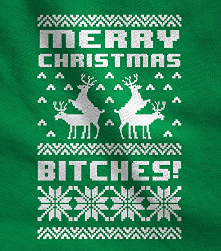 Merry Christmas Bitches Ugly Sweater Humping Reindeer Funny Sweatshirt X-Large Red