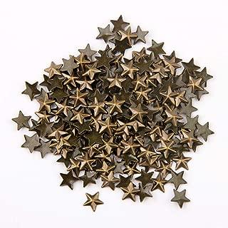 Beadsland Hotfix Iron On, Flat Back Stars Studs - 1/4