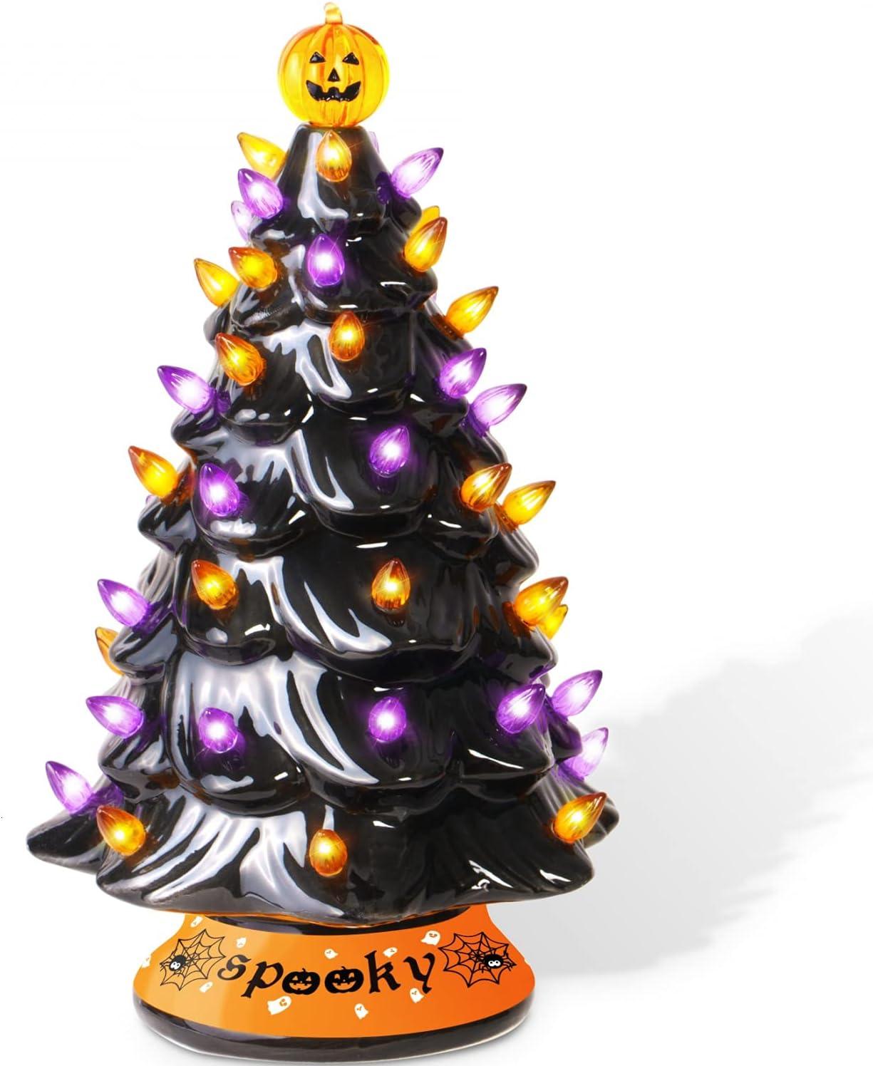 Ceramic Halloween Tabletop Trees