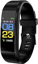 ConnectFitBluetooth Smart Horloge Hartslagmeter Polshorloge Fitness Armband IP65 Waterdichte Smart Polsband (Kleur: Zwart)