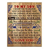 QUMO Son Gifts | from DAD | MOM | Parents | Mother | Inspire | Plaque | Christmas | Wooden Sign | Wall Art
