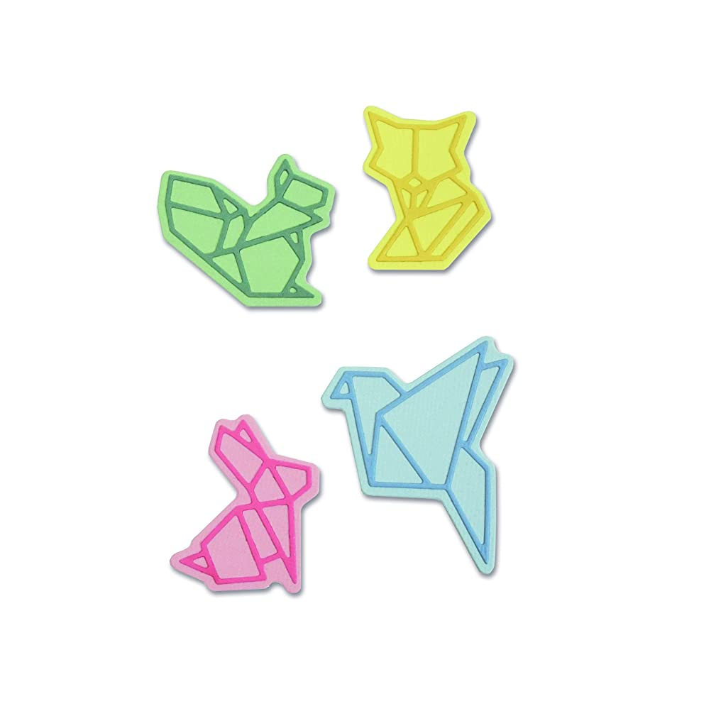 Sizzix 663319 Origami Animals Dies, One Size, Multicolor