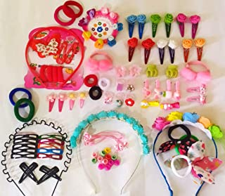 DLASSIETRENDS Hair Accessories Combo for Kids School Girl Baby Girls Rubber Bands Easy to use in Styling Fashion Access